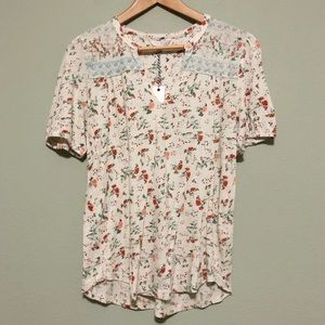 Lucky Brand Floral Top - Size Small